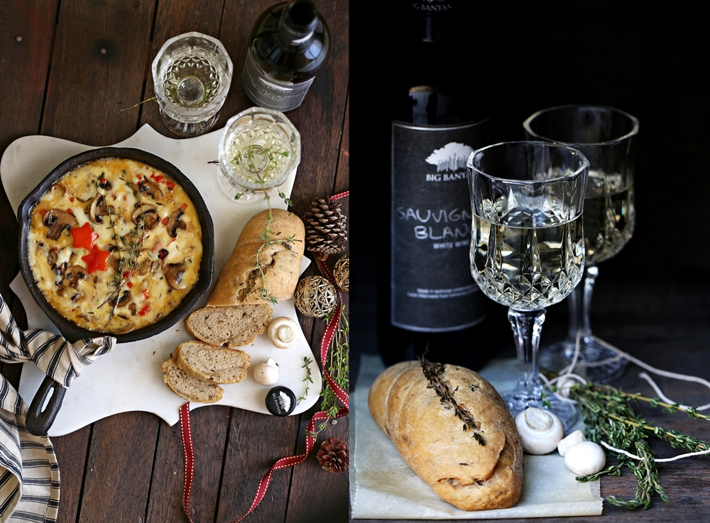 Baking | Smoky Baked Mushroom Cheese Dip with #bigbanyanwines for the ...