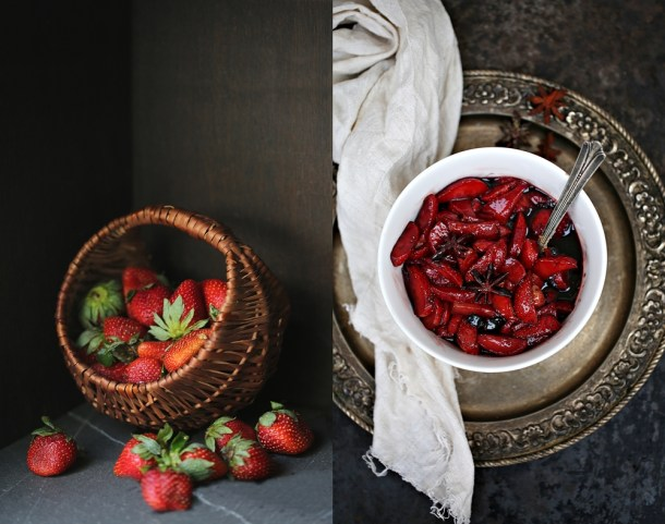 Dark-Chocolate-Cheesecake-with-Wine-Macerated-Strawberries-2 Baking | Dark Chocolate Cheesecake with Wine Macerated Strawberries
