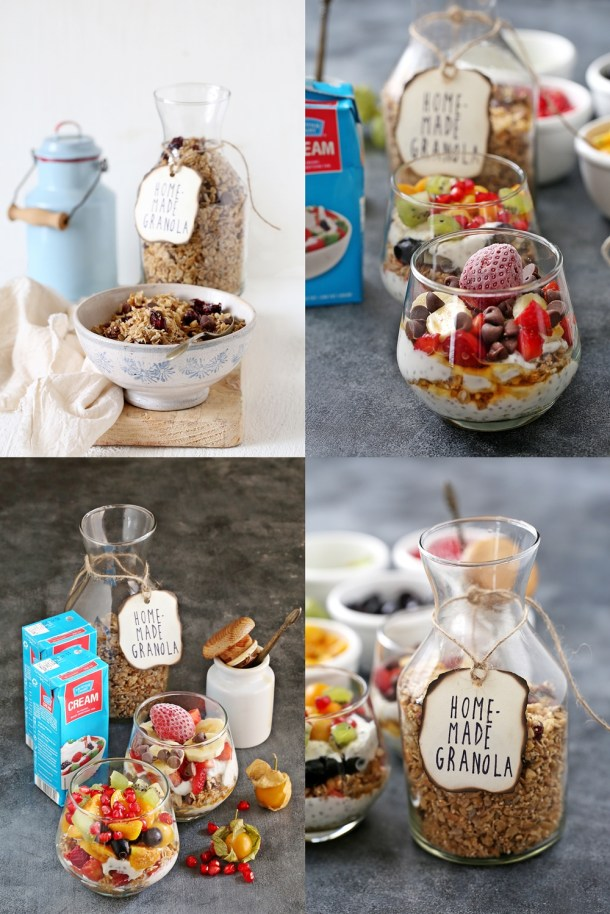 Fruit-Cream-Granola-Parfaits-5-1000 Baking | Fruits with Cream & Granola Parfaits ... dessert for breakfast with cream, fruit & homemade granola