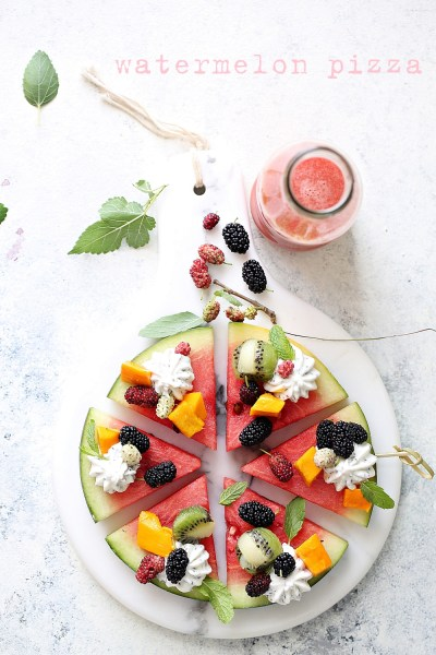3 ways with Watermelon – Pizza  Cooler Salad #summer #healthy #inspiration #raw