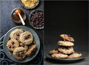 Eggless Wholegrain Buckwheat Oat Chocolate Chip Cookies