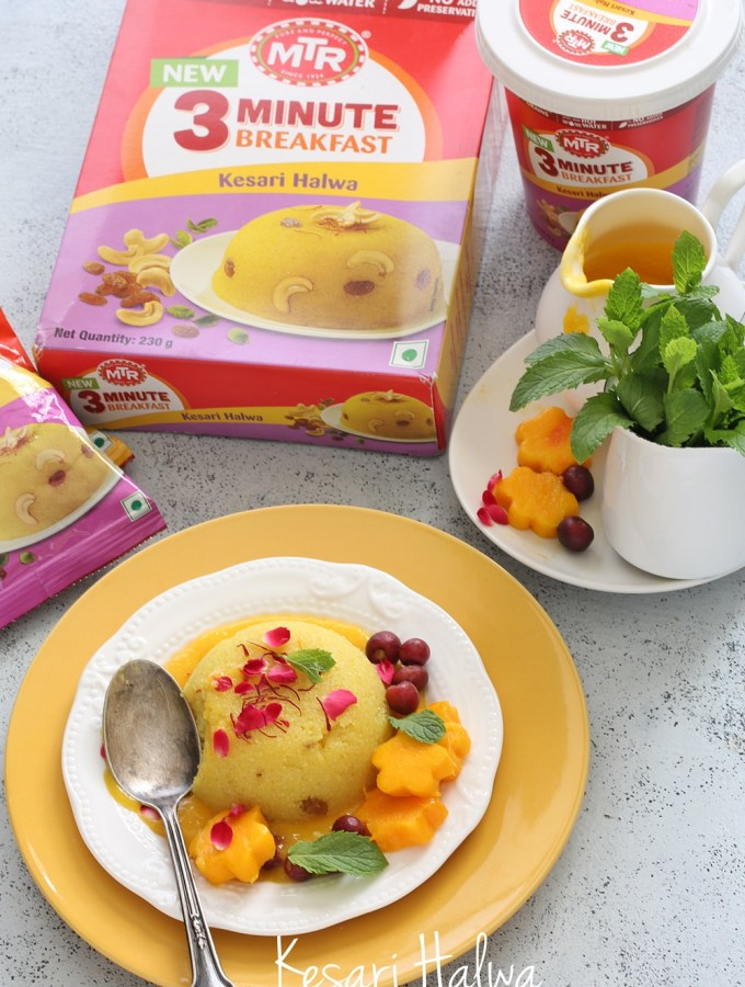 Kesari Halwa – Breakfast in 3 minutes with MTR.  Healthy. Quick. Delicious.
