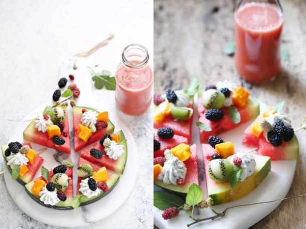 Watermelon-pizza-1000 3 ways with Watermelon - Pizza  Cooler Salad #summer #healthy #inspiration #raw