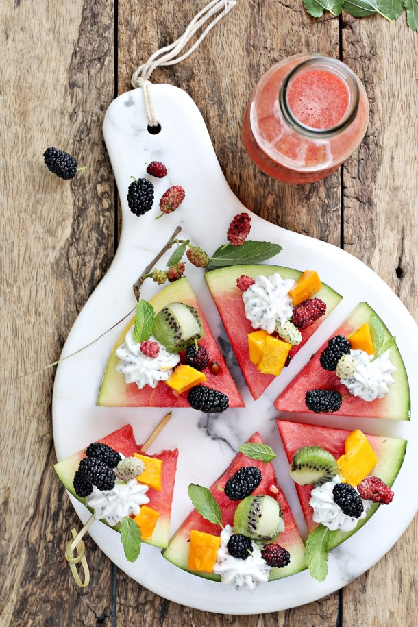 Watermelon-pizza-8-1000 3 ways with Watermelon - Pizza  Cooler Salad #summer #healthy #inspiration #raw