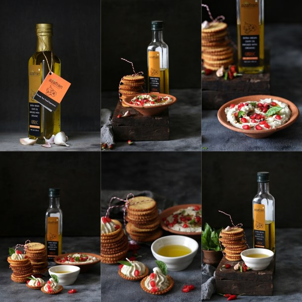 Polenta-Cheese-Crackers-Eggplant-Melon-Seed-Dip-3 Polenta Cheese Crackers and a cracker of an Eggplant Melon Seed Dip … with infused olive oils