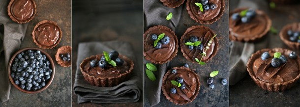 Wholegrain-Eggless-Chocolate-Blueberry-Tart-11 Wholegrain Eggless Chocolate Blueberry Tarts ... sometimes chocolate IS the answer!