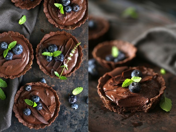 Wholegrain-Eggless-Chocolate-Blueberry-Tart-9 Wholegrain Eggless Chocolate Blueberry Tarts ... sometimes chocolate IS the answer!