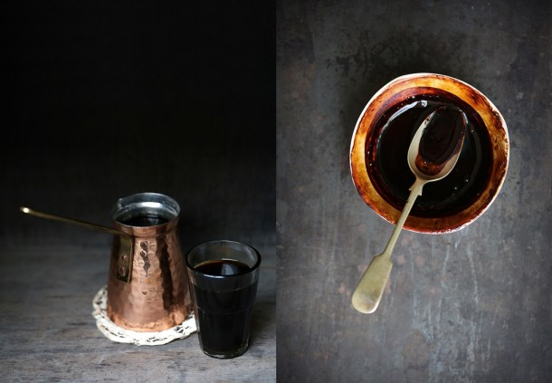 Coffee Coffee Mascarpone Layered Cake with Dark Chocolate Ganache