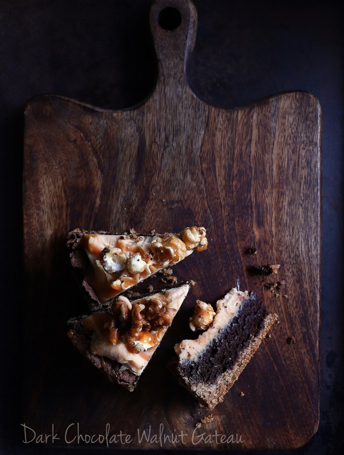 Dark Chocolate Walnut Gateau {GF} … and exploring the Canon 6D Mark II #photography #canon