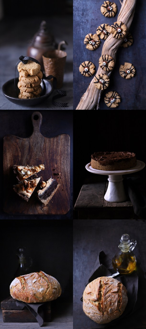 Moody-pictures Dark Chocolate Walnut Gateau {GF} ... and exploring the Canon 6D Mark II #photography #canon