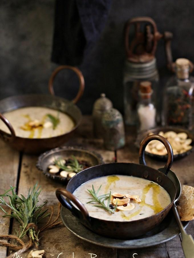 MushroomCashew RosemarySoup … truly a winter warmer!