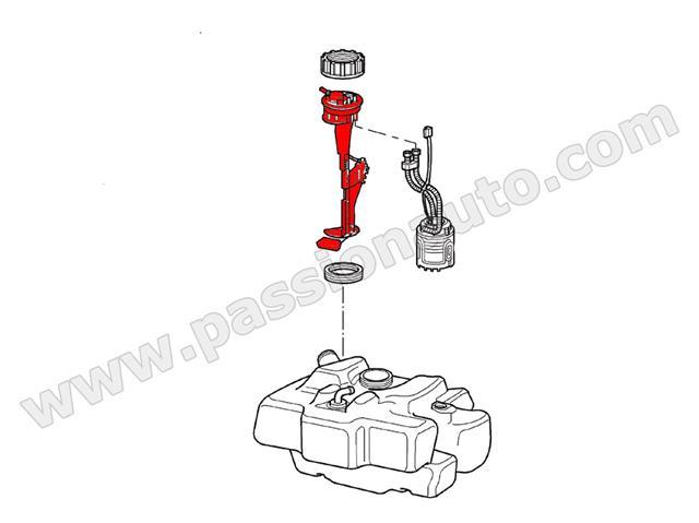 Capteur jauge niveau essence # Boxster 987 / Cayman 05-08