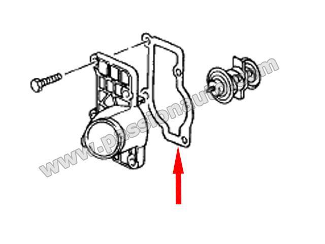 Joint pour capot de thermostat # Boxster 986-987 / Cayman
