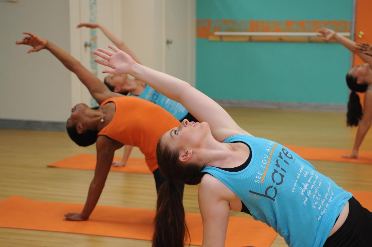 santu stretch class image, barre, passion, freedom, fitness, pilates, renew mind