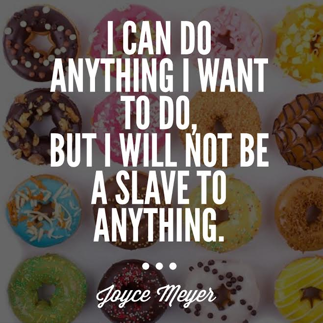 Picture of Quote over donuts for Passion Barre Blog
