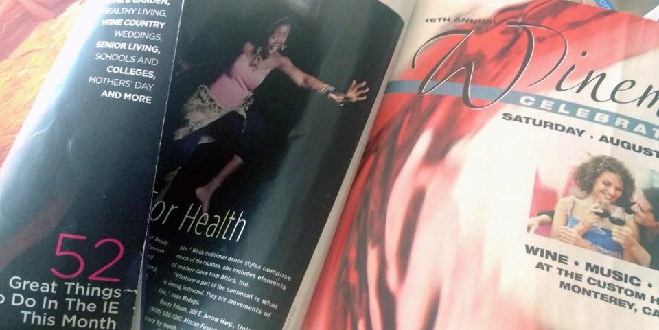 Passion Barre's 'Dami featured in Inland Empire Magazine, 2008