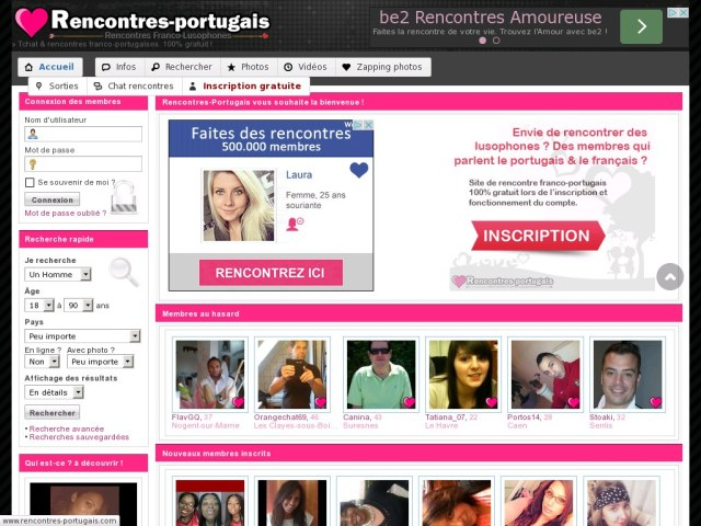 Rencontres-Portuguais - Test et Avis