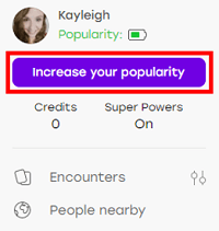 Increase Your Popularity button