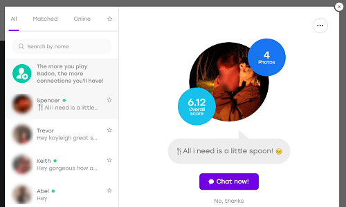 View Badoo messages from other users
