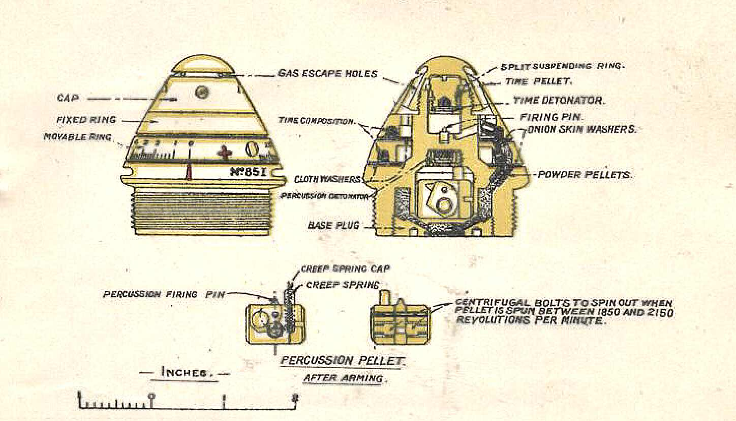 hight resolution of time and percussion fuze n 85 disassembled fuze with markings scovill no 85 i picture courtesy luc malchair