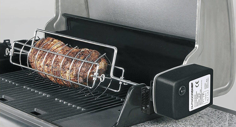Girarrosto Elettrico Per Barbecue A Gas E Carbone