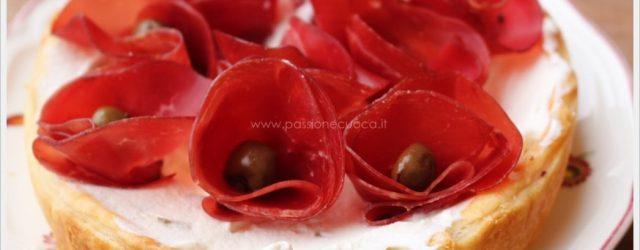 torta con le rose di bresaola