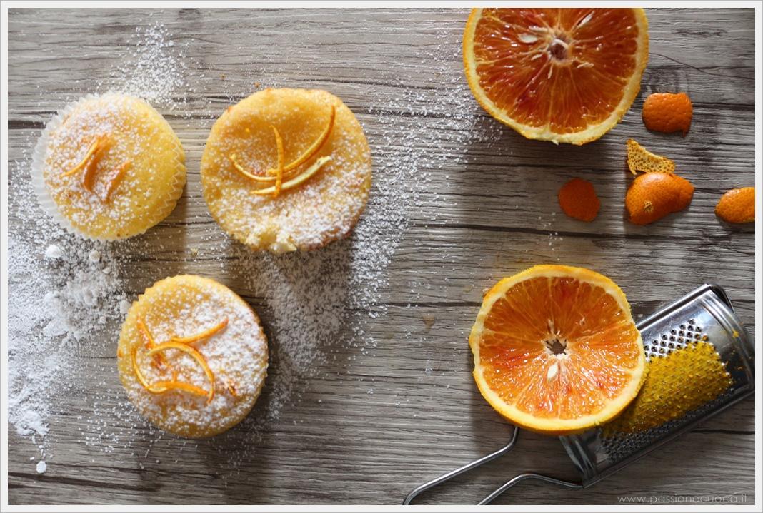 Muffin alla ricotta e arancia
