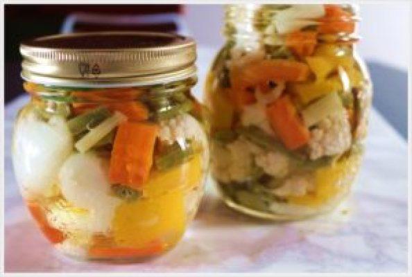 ricetta conserve di verdure sott'olio in vaso