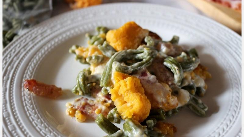 Pasta agli spinaci con cavolfiore arancio