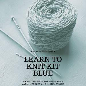 Learn to Knit Kit - Blue