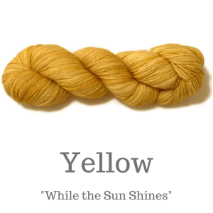Yellow Yarn included in the kit