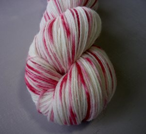 close up of Azalea sock yarn