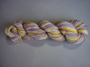 Pansy sock yarn vertical