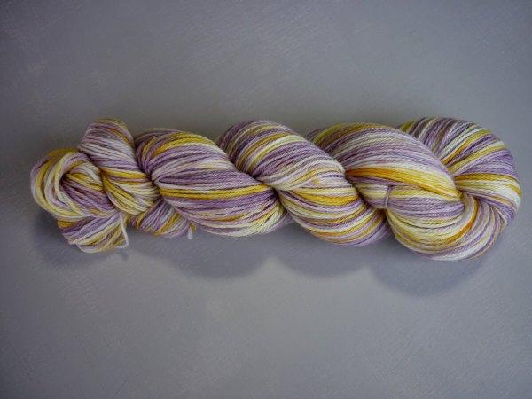 Pansy sock yarn vertical