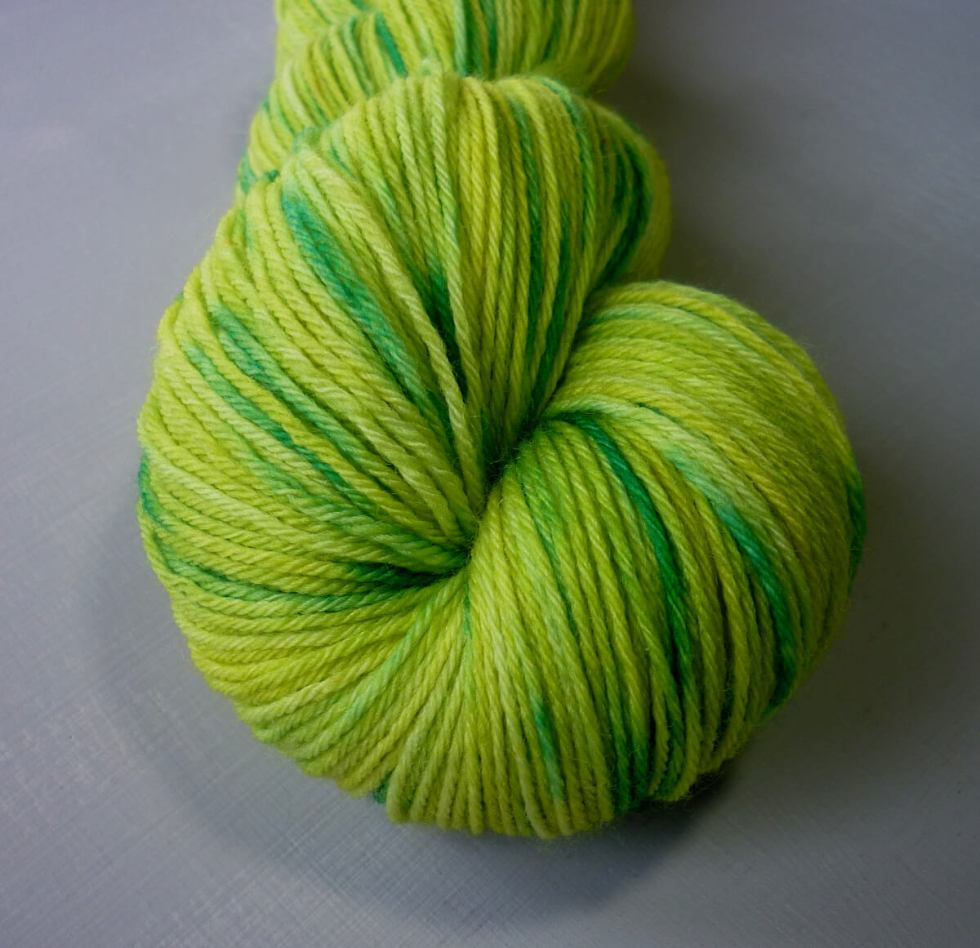 Close up of wattle sock yarn