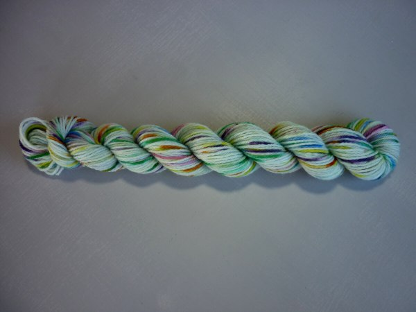 Wild Flowers mini skein flat lay horizontal view