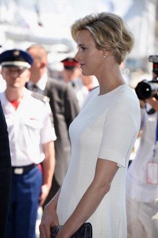 charlene abito bianco premaman