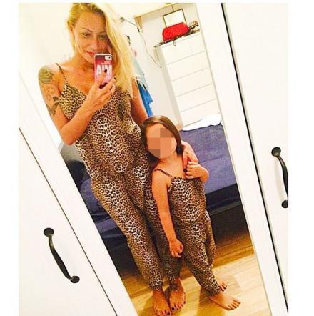 Karina Cascella e figlia