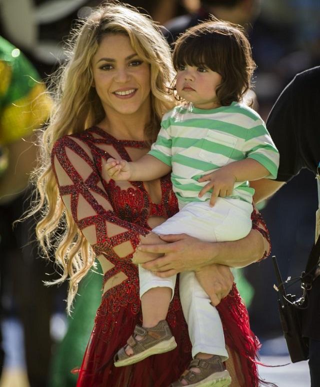 Shakira e il figlio Milan