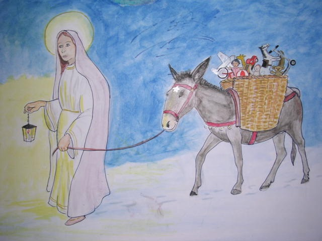 santa lucia porta regali bambini