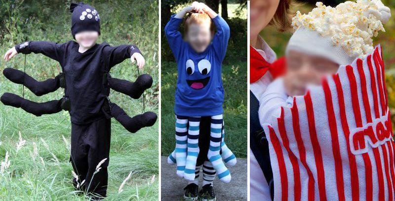 Costumi da ragno, polipo e pop-corn fai da te