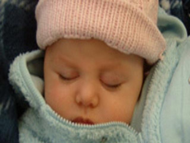 neonato in inverno