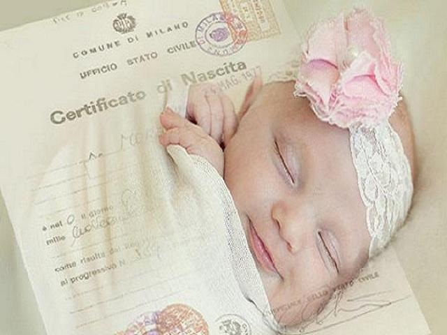 documenti neonato