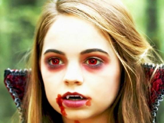 foto trucco bambini halloween vampira