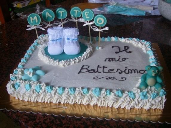 Torte battesimo idee semplici ma gustose passione mamma - Decorazioni battesimo bimba ...