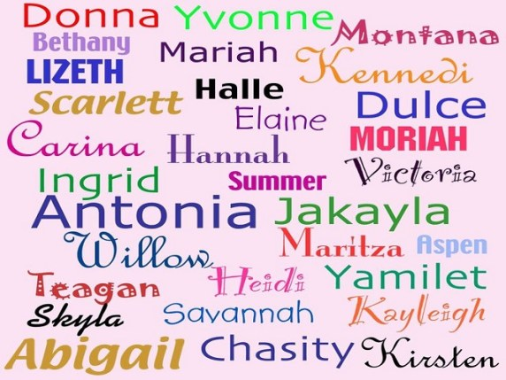 nomi femminili inglesi