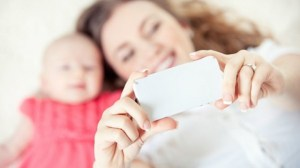 selfie mamma e figlio