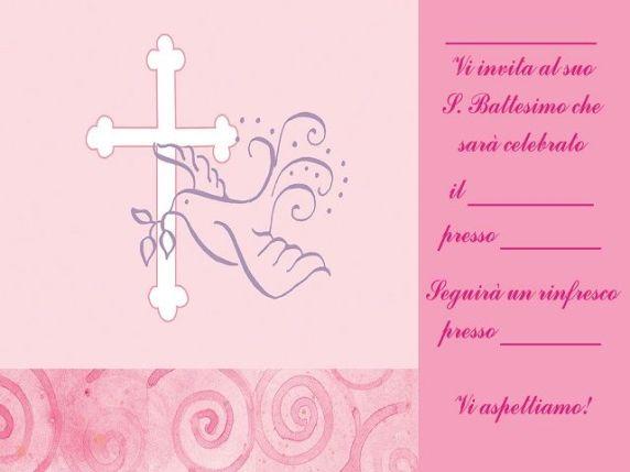 formula invito battesimo