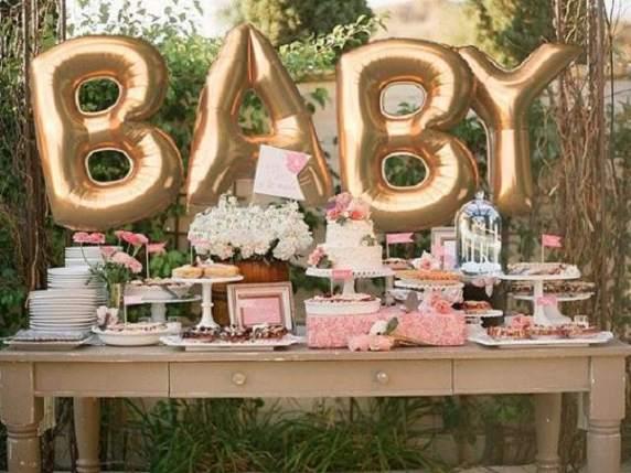 baby shower rosa e crema