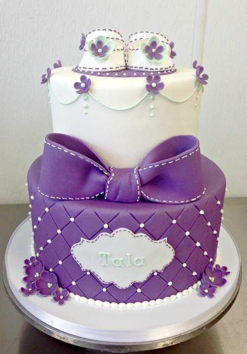 torta viola per baby shower